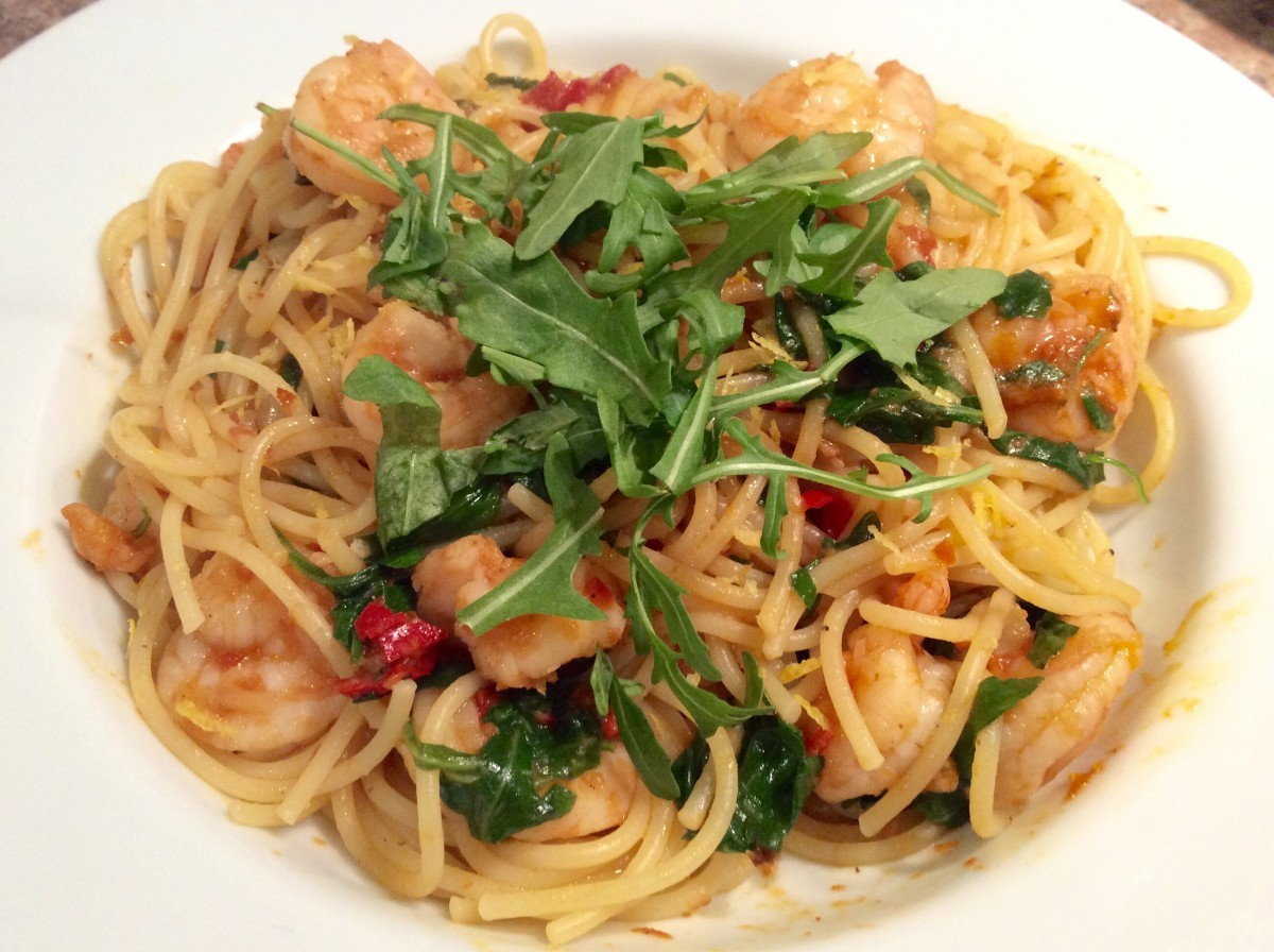 Take Two: Spaghetti with Prawns & Rocket