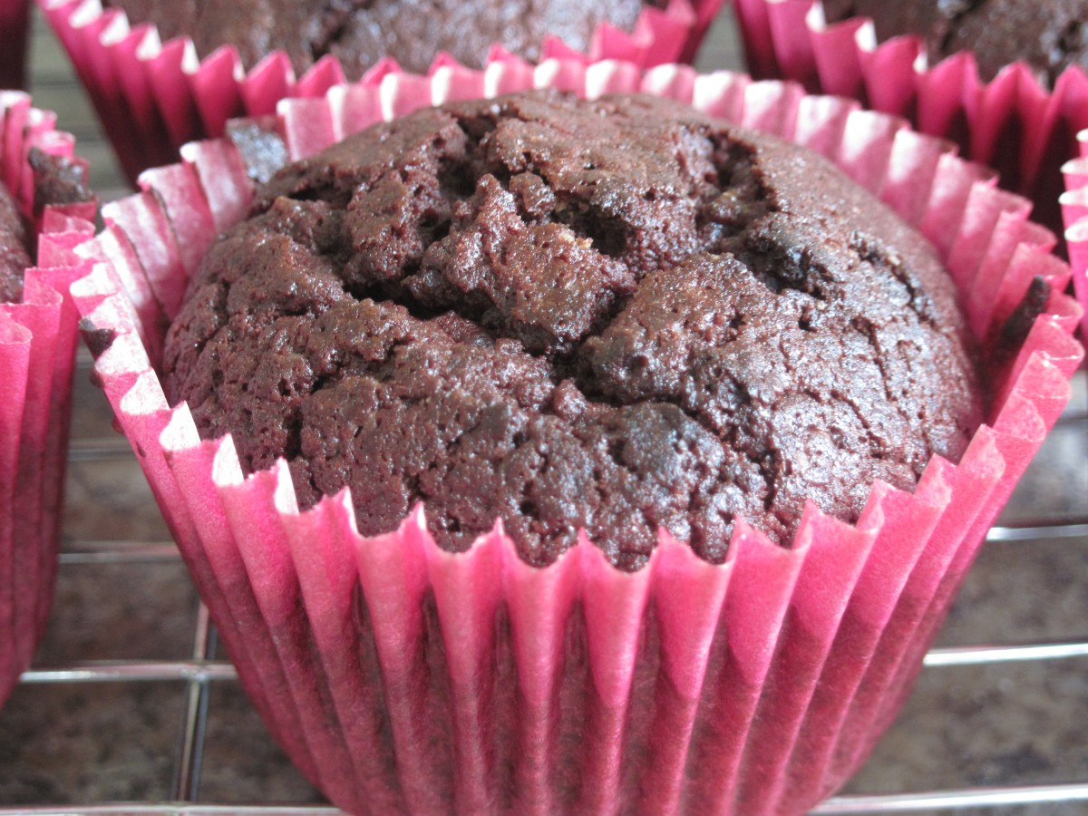 Beautiful Beetroot & Chocolate Muffins