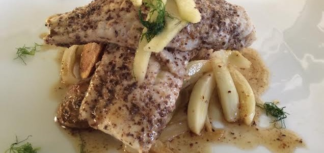 Dinner a Deux: Sear-Roasted Wolf Fish with Honey Glazed Fennel