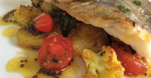 John Dory with Spiced Cauliflower & Tomatoes
